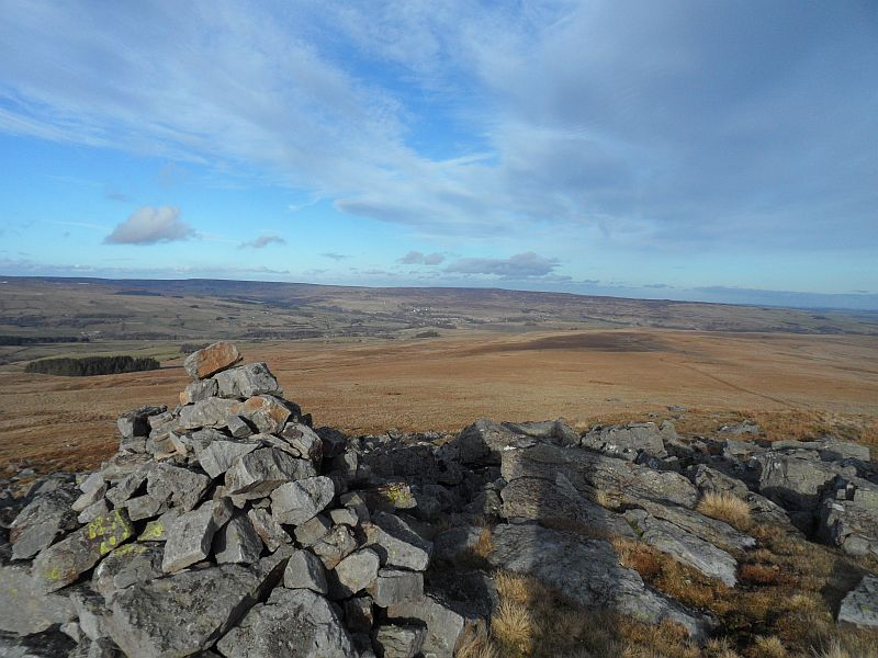 Stanhope from the cairn on Carrs Top